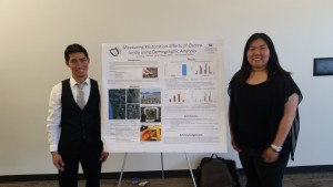 Field Team presenting their poster