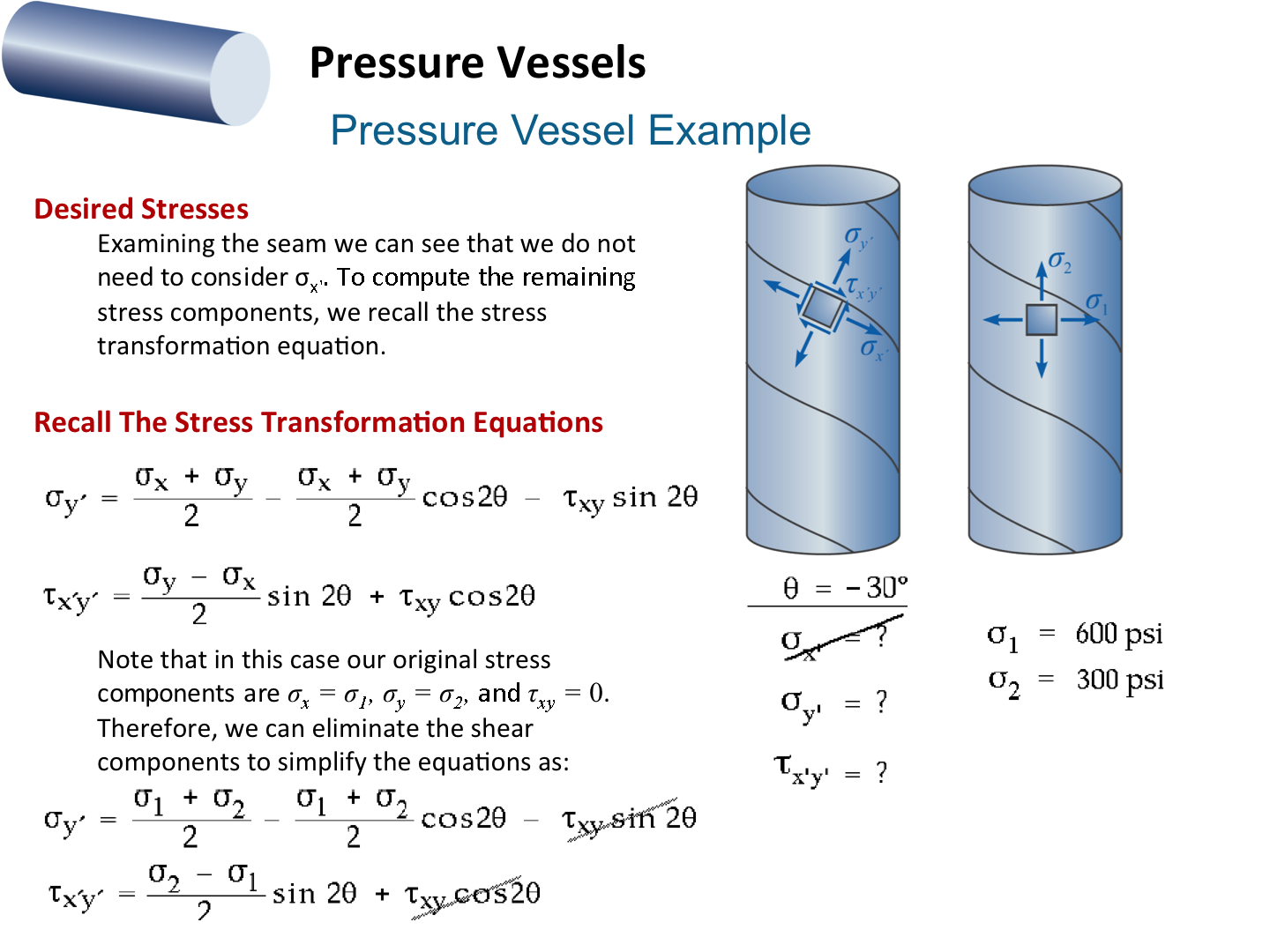 pressure vessel components