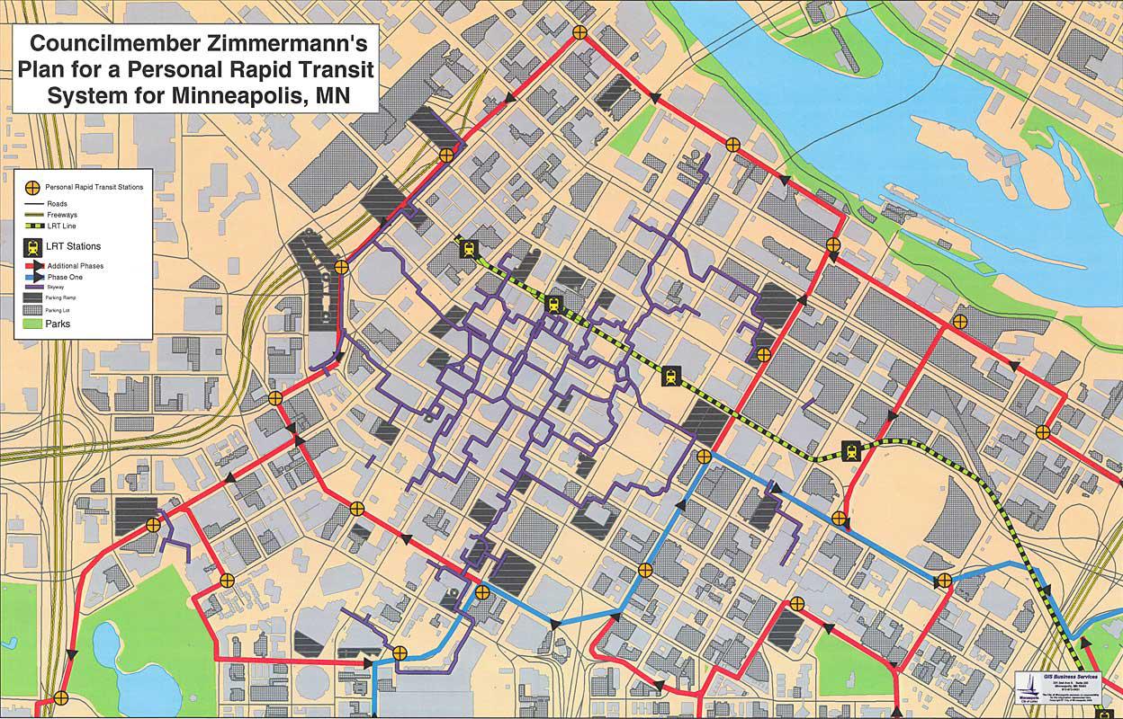 Downtown Minneapolis Personal Rapid Transit Network
