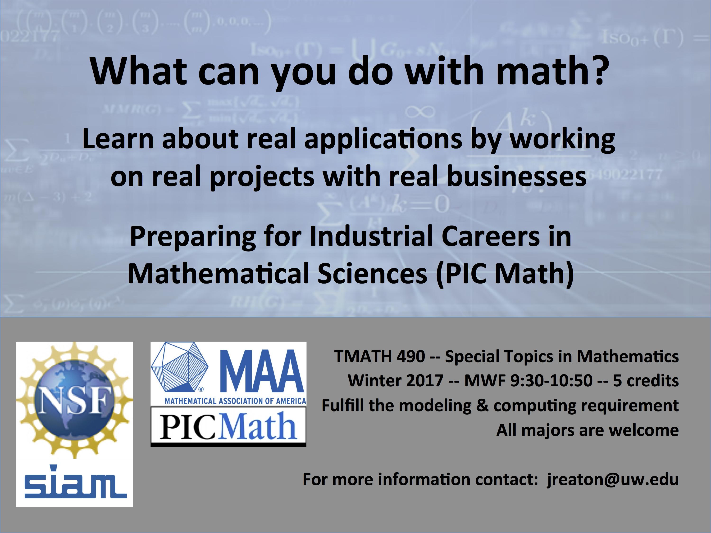 PIC Math Course :: University of Washington Tacoma