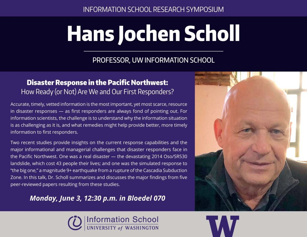 Hans Jochen Scholl Professor University Of Washington Ischool
