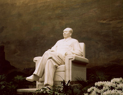 Image result for mao's marble statue inside the Maos memorial