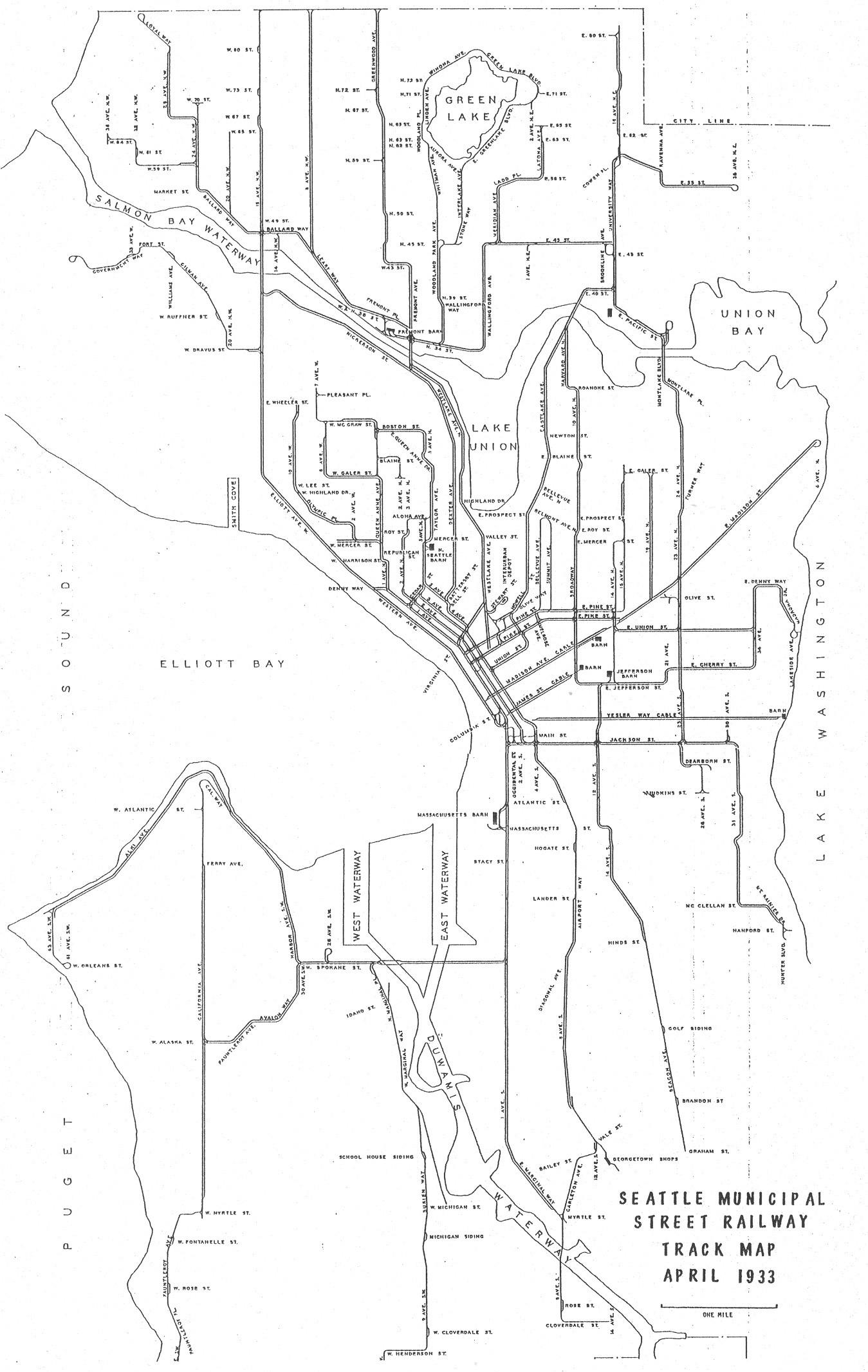 Seattle Municipal Street Railway Track Map South Lake Union Stories