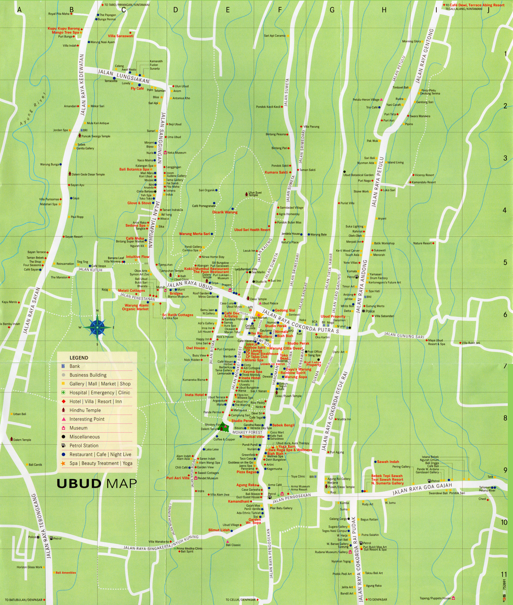 Ubud In One Map