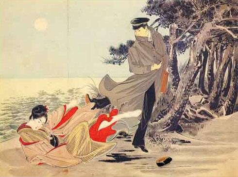 Ozaki Koyo  Gold Demon on Oguri F  Y   S Sequel  Konjiki Yasha  Sh  Hen