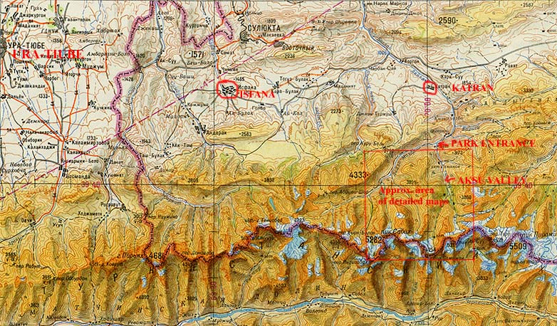 A Trek in the Pamir-Alai (Turkestan Range) in Kyrgyzstan Elevation Map Of Pamir Mountains on map of taklimakan desert, map of western ghats, map of afghanistan, map of aral sea, map of sierra madre occidental, map of bhutan, map of mongolia, map of kashgar, map of tibet, map of indus river, map of uzbekistan, map of zabul province, map of madagascar, map of pakistan, map of tien shan, map of singapore, map of cordillera oriental, map of caspian sea region, map of bamyan province, map of yemen,